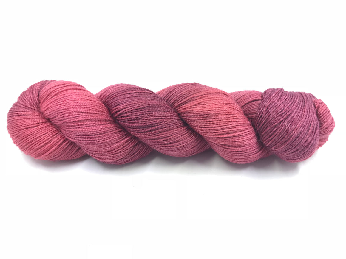 DEEP DUSTY ROSE SOCK/FINGERING (TONAL)