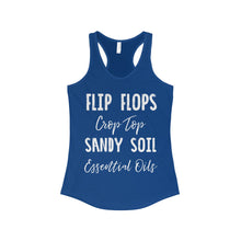 'Flip Flops, Crop Top, Sandy Soil, Essential Oils' Women's The Ideal Racerback Tank