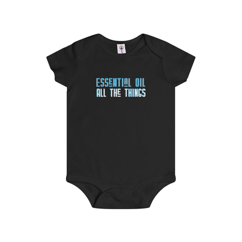 'Essential Oil All The Things' Blue Infant Rip Snap Tee