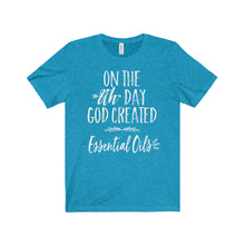 'On The 8th Day GOD Created Essential Oils' Unisex Jersey Short Sleeve Tee