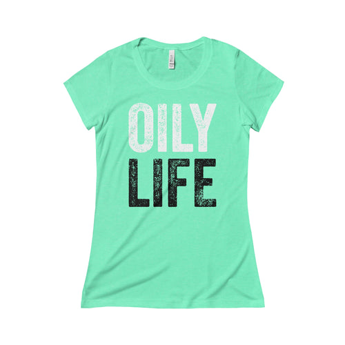 'OILY LIFE' Triblend Short Sleeve Women's Tee