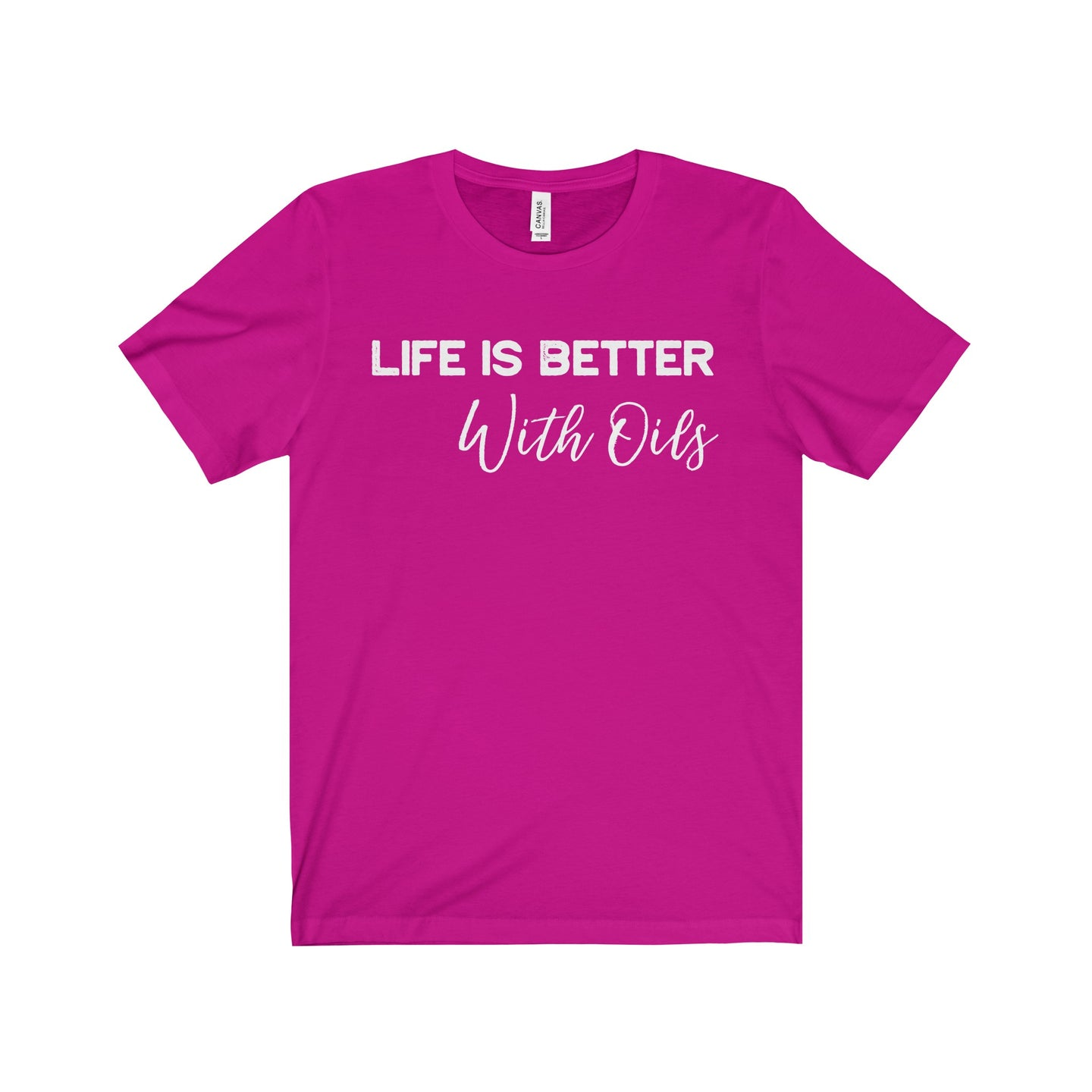 'Life is Better With Oils' Unisex Jersey Short Sleeve Tee