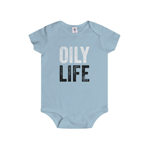 'OILY LIFE' Infant Rip Snap Tee