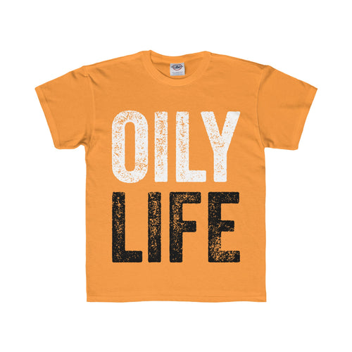 'OILY LIFE' Youth Regular Fit Tee