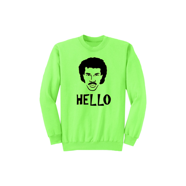 Neon Hello Face (crewneck) + Digital Download