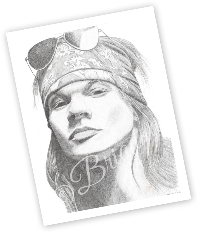 Brianna's Art - Axl Rose Sunglasses 11x14