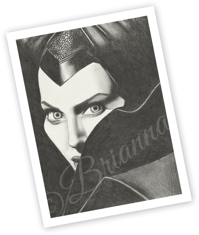 Brianna's Art - Maleficent 11x14