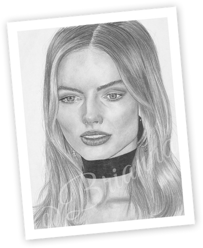 Brianna's Art - Margot Robbie 11x14