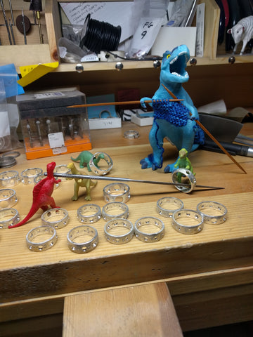 dinosaurs hard at work
