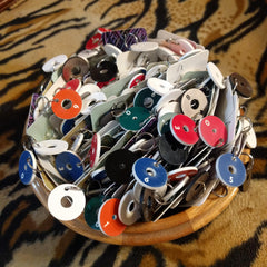 Needle Gauge stitch markers in a bowl