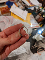 Squashed ring just received in the mail