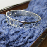 Knitting Needle Gauge Bangle- Sterling Silver