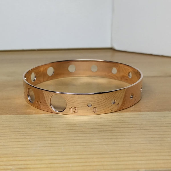 Knitting Needle Gauge Bangle- 14K Rose Gold