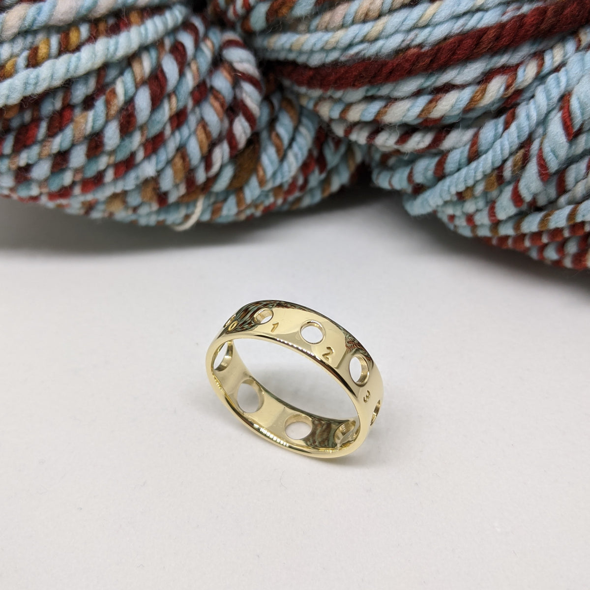 Knitting Needle Gauge Ring-14K Gold