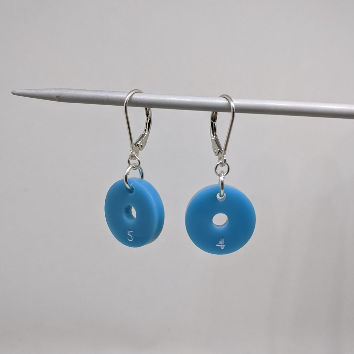 Single Needle Gauge Earrings-Lever back