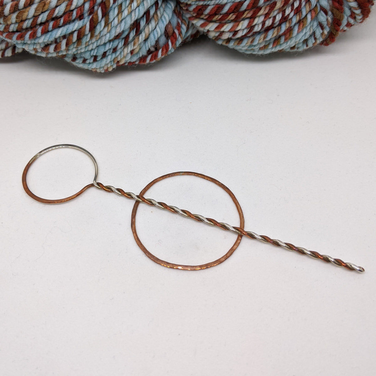Sterling Silver and Copper shawl pin