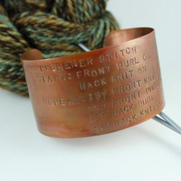 Kitchener Cheat Sheet Cuff Bracelet-Copper