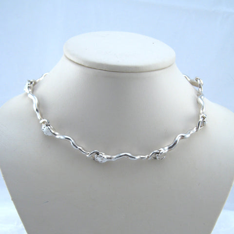 Silver Snakes Choker Necklace