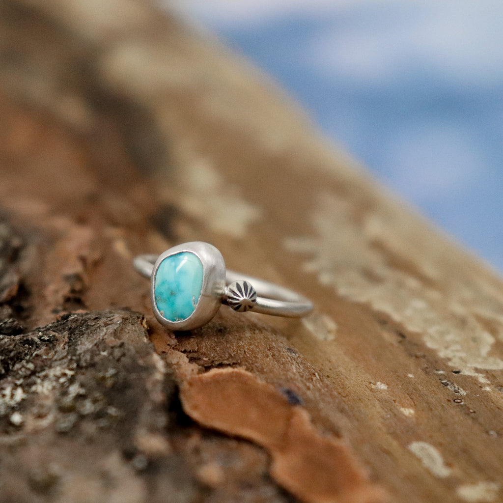 Turquoise + Star Ring - SIZE 6