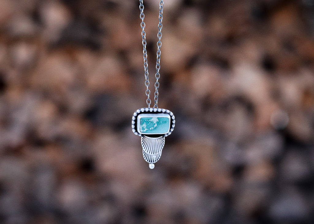 Mongolian Turquoise Art Deco Necklace