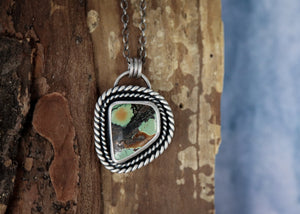 Hubei Turquoise Twist Necklace