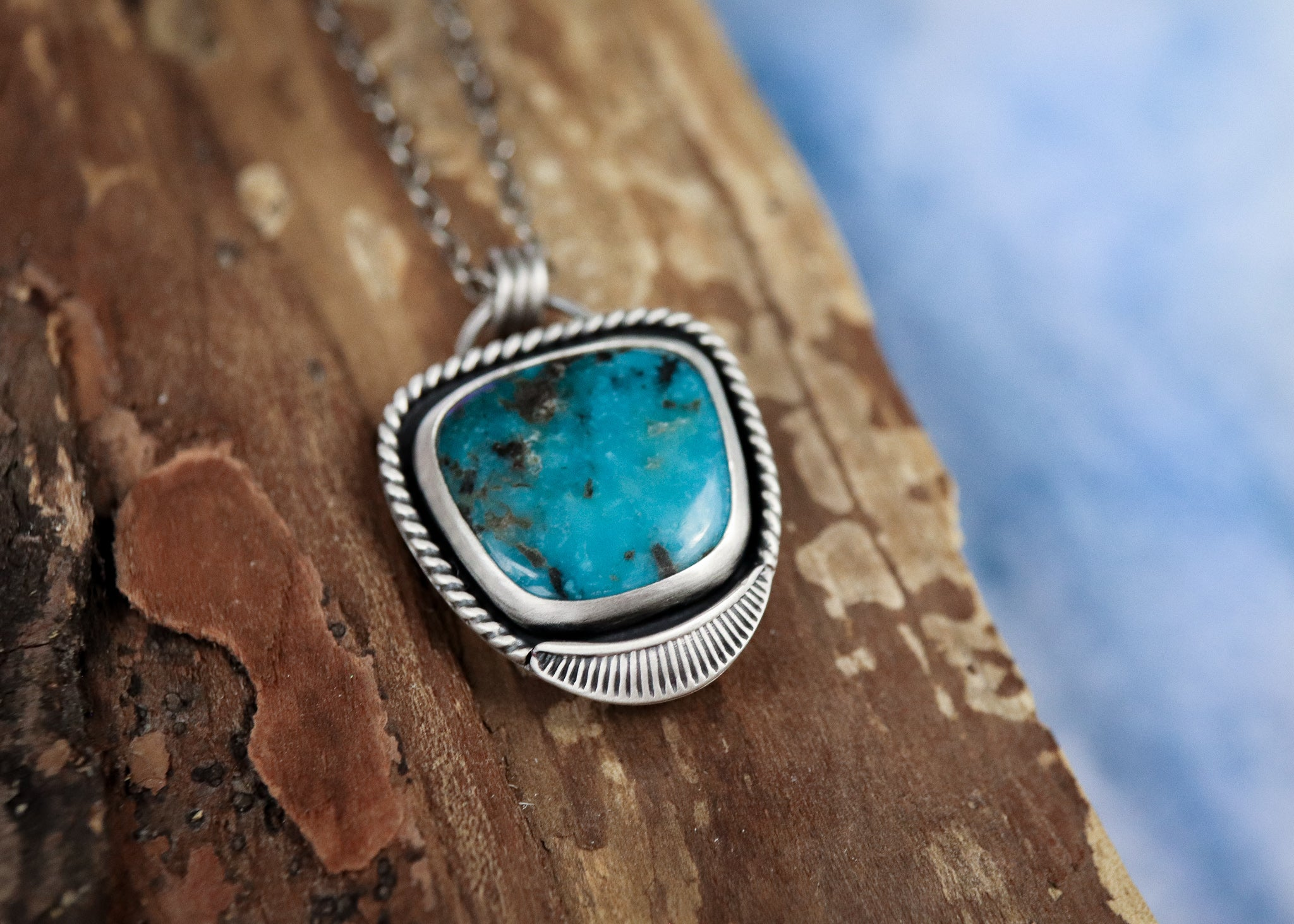 Nevada Turquoise Sun Ray Necklace