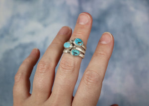 Starburst Ring with Castle Dome Turquoise - Size 7