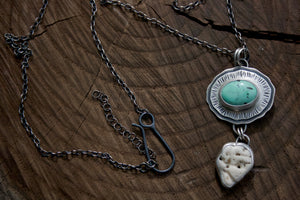 Nevada Turquoise + Shell Necklace