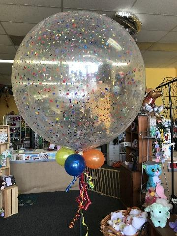 3 foot confetti balloon
