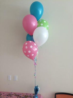 11-inch Balloons with Polka Dot Print