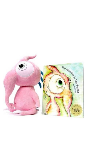 Worrywoo Squeek: The Monster of Innocence Plush & Book Set