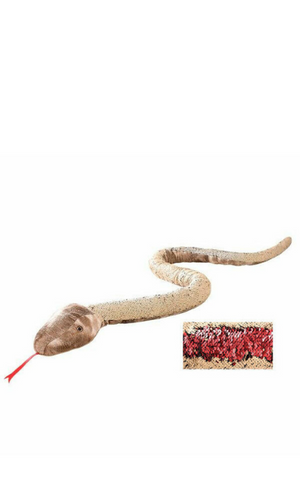 Sequinamals Snake - Red & Tan