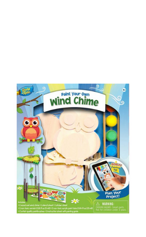 Works of Ahh Wind Chime Owl Wood Paint Kit