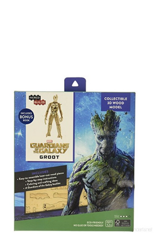 Incredibuilds: Groot 3D Wood Model and Book