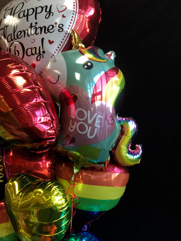 Rainbow and Unicorn (all mylar)