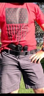 A good gun belt will hold your holster and gun...