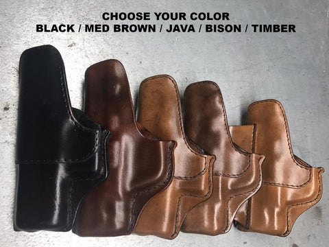 Old Fashioned IWB Leather Holsters Color Selection