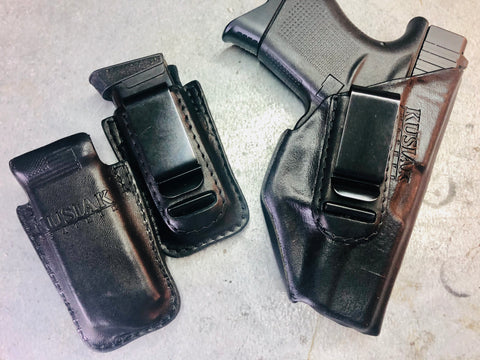 Glock 43 holster with mag pouches