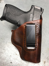 Kimber Micro 380 w/Laser Grip Leather IWB Holster