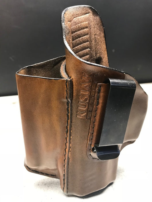 Kimber Micro 9 w/Laser Grip Leather IWB Holster – Kusiak Leather
