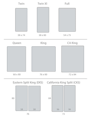 Bed Size Chart