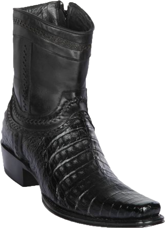 Narrow Square Toe Short Boot