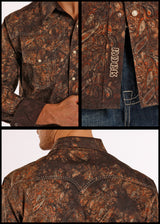 Panhandle Rock and Roll saddle stitch paisley and yokes