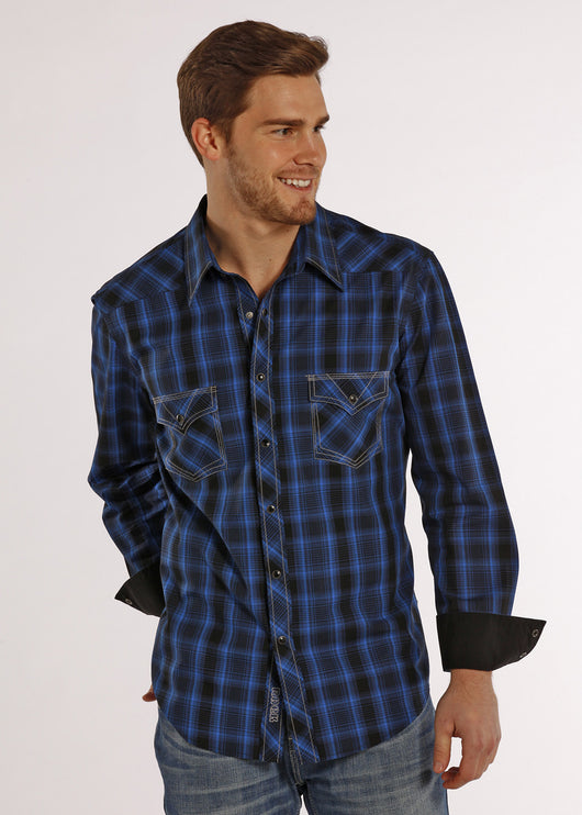 Blue 2 pocket long sleeve shirt