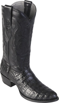 Black Caiman Belly Boot Los Potrillos Western Wear
