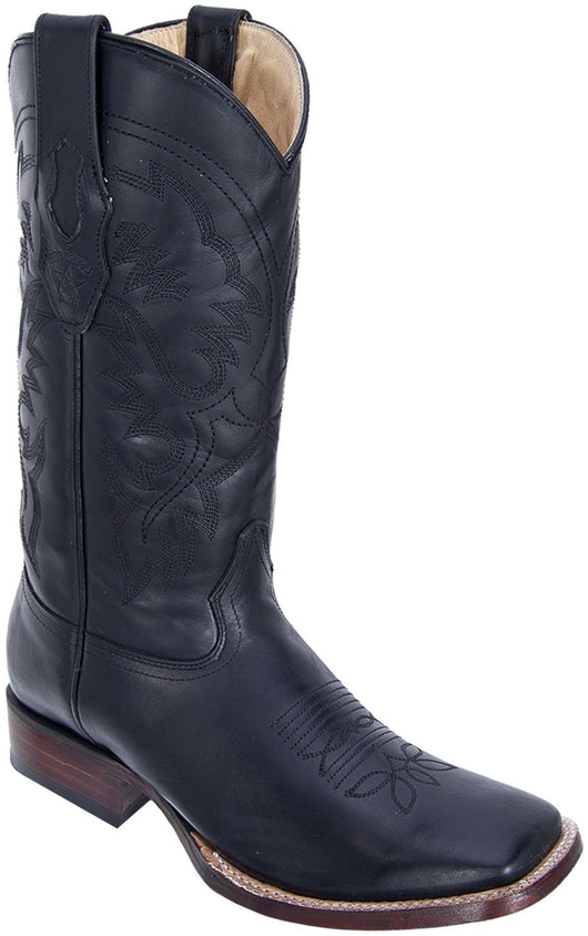 Black square toe boot Los Potrillos Western Wear