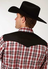 Black Red Western Snap Los Potrillos Western Wear