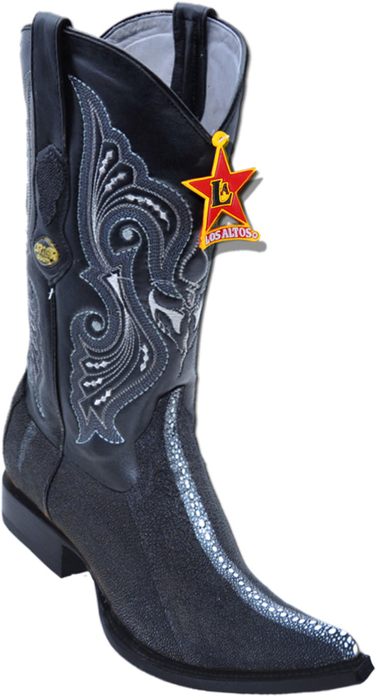 Stingray full rowstone with black sole 3X toe boot
