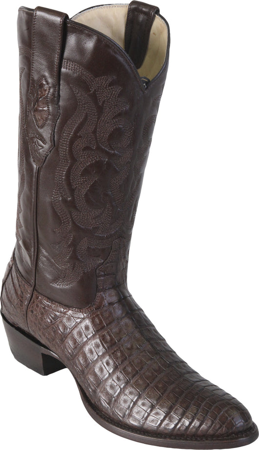 Brown Caiman Belly Boot Los Potrillos Western Wear
