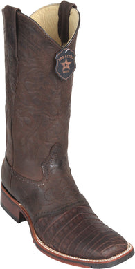 Caiman belly square toe boot